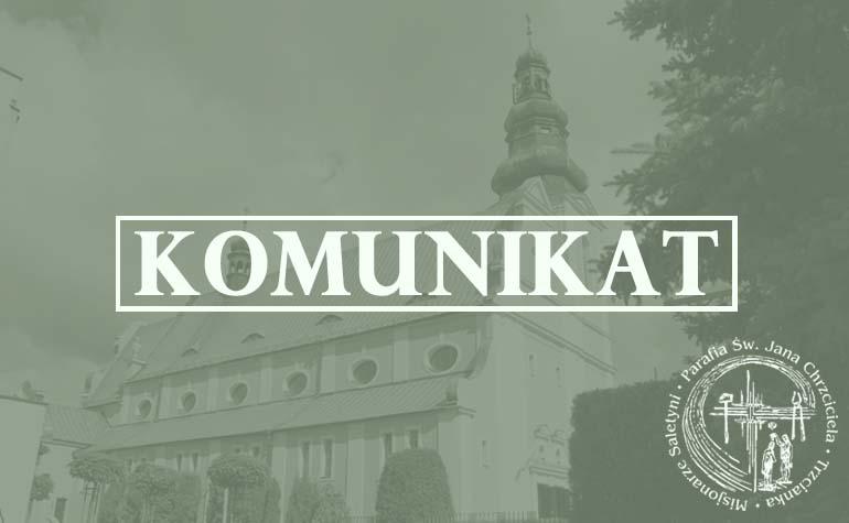 Komunikat parafii nt.zapłodnienia pozaustrojowego in vitro